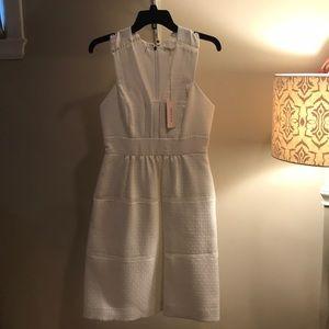 Rebecca Taylor white matelasse dress